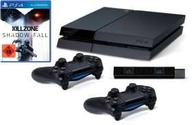"""HINWEIS"" PlayStation 4 - Konsole inkl. Killzone: Shadow Fall + 2 DualShock 4 Wireless Controller + Kamera @Rakuten"