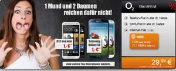 Kracher – Galaxy S4 mit Kompletter Flat für 29,99€ pro Monat