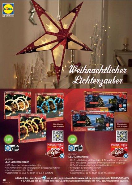[OFFLINE@LIDL] ab 21.11. LED-Lichterschlauch 10m / 360 LEDs