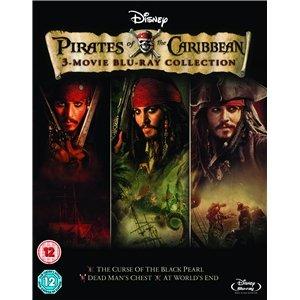(UK) Fluch der Karibik - Pirates of the Caribbean 1-3 [3 x Blu-ray] für umgerechnet ca. 10,79 € @ play (Zoverstocks)