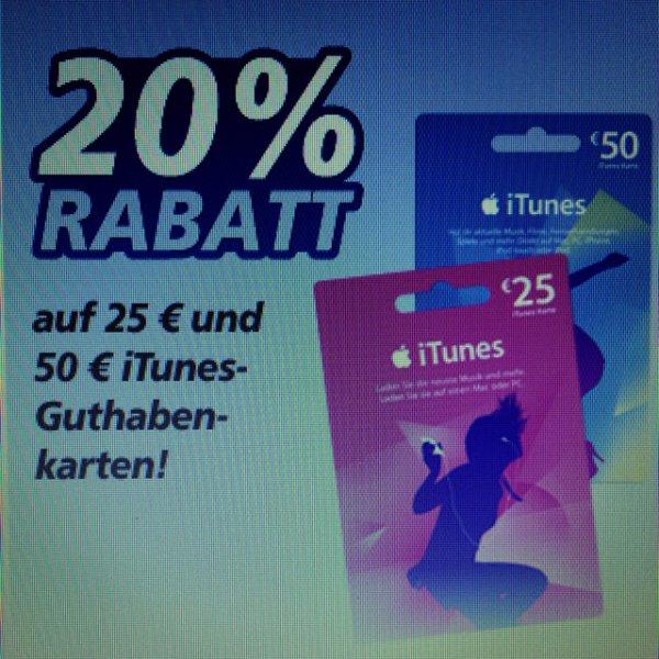 [Lokal?] 20%-Rabat auf 25€ und 50€ iTunes-Guthabenkarten