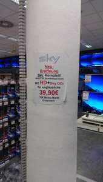 "[Lokal MM Köln] Sky Komplett ""Light"" inkl. HD + Sky Go + 30 Euro Gutschein"