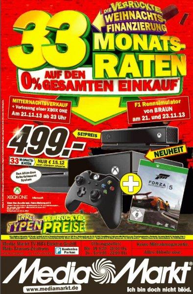 [Media Markt Sulzbach] Xbox One + Forza 5 im Nachtverkauf