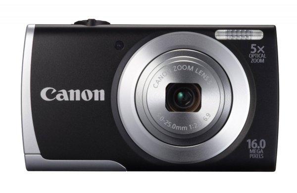 [Saturn Ludwigshafen]  Canon PowerShot A2500 Digitalkamera (16 Megapixel, 5-fach opt. Zoom, 6,9 cm (2,7 Zoll) Display, bildstabilisiert) schwarz 49€