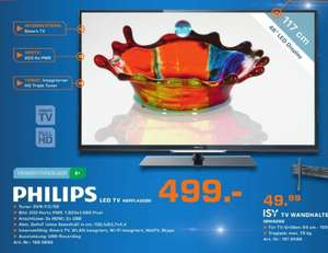 [Saturn] Philips 46PFL4208K/12 117 cm (46 Zoll) LED-Backlight-Fernseher, EEK A+ (Full HD, 200Hz PMR, DVB-T/C/S2, CI+, WLAN, Smart TV, HbbTV) schwarz  499€