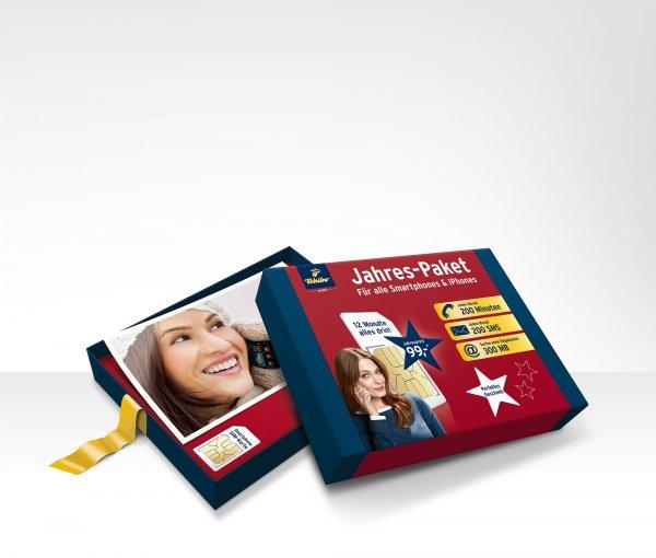Tchibo Mobil - Jahres-Paket  Geschenkbox