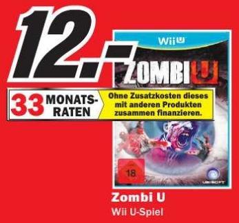 [Lokal] WiiU ZombiU 12€ in den Media Märkten in Mainz, Alzey, Bischofsheim