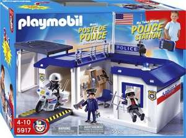 @real: Playmobil 5917 - Polizeistation zum Mitnehmen
