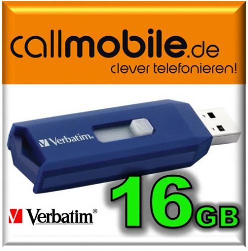 Prepaid Karte mit 12 € Guthaben + 16 GB USB Stick für 2 €