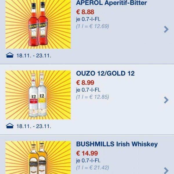 Lidl Offline - Bushmills irish whisky (und mehr z.B. 1KG Nutella 4,29)