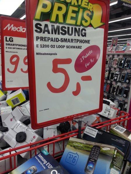 [LOKAL @MediaMarkt Paderborn] 2x Samsung E1200 inkl. 5€ Guthaben