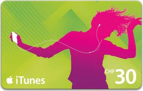 Schweiz: 33% Rabatt auf iTunes Guthaben 90 CHF für 60 CHF.