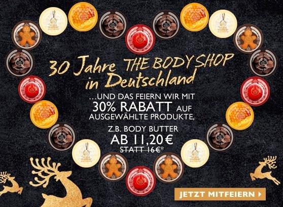 30% Rabatt auf ausgewählte Produkte bei The Body Shop