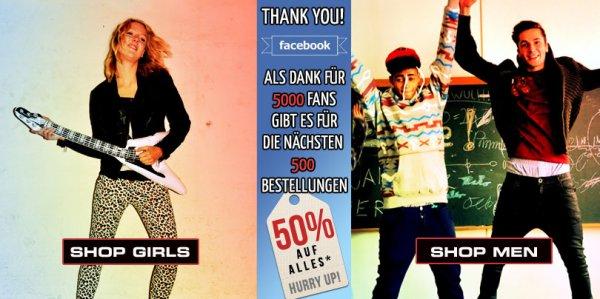 50% auf alles bei Fresh Juice (Street Wear) + 5€ Rabatt ab 20€