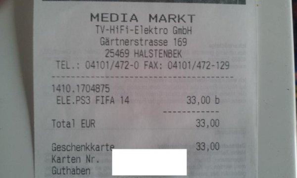 [Lokal MM-Halstenbek] Fifa 14 für PS3 & Xbox360 33€