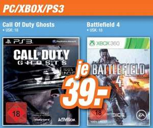 Call of Duty Ghosts PS3 & Battlefield 4 Xbox360 39€ LOKAL[Expert Bad Honnef]