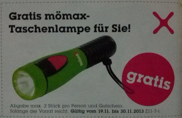 Gratis Taschenlampe @mömax-Filialen