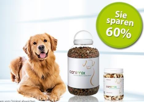Günstiges Tierfutter: 60% Rabatt auf bereits reduzierte Produkte von Canimix, z.B. 6x750g Katzenfutter für 9,48€ Ersparnis: 5 €