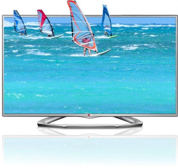 LG 32LA6136 80 cm (32 Zoll) Cinema 3D LED-Backlight-Fernseher, EEK A (Full HD, 100Hz MCI, DVB-T/C/S/S2, HDMI, USB) silber
