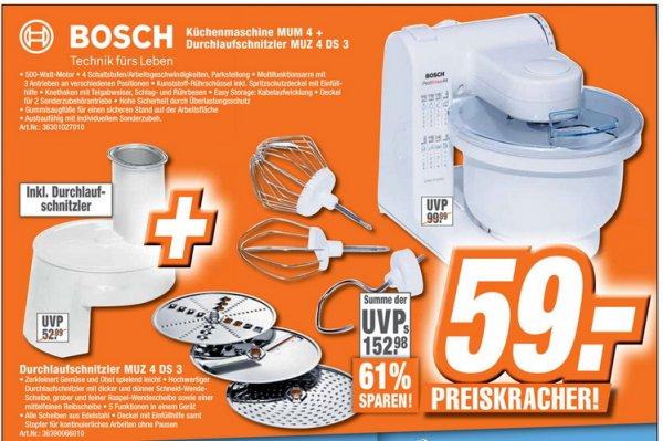 [Lokal Expert Bad Honnef]   Bosch MUM 4 Küchenmaschine MUM4 500 Watt weiß 59€
