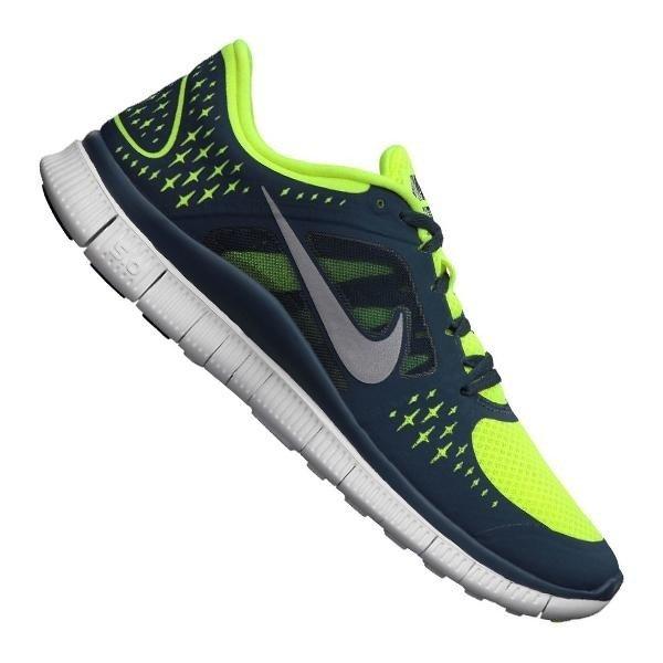 Nike Free Run+ 3 Running Mens Blau Neongelb für 65,97 Euro