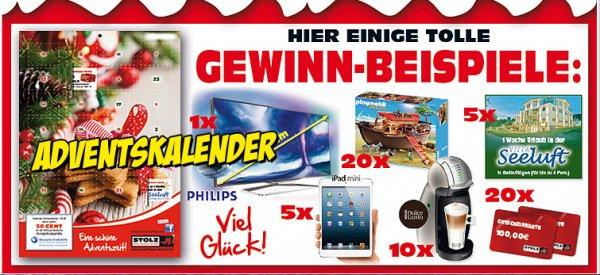 5 Adventskalender +  1x Einkaufstrolly + 2x Schlüsselbänder + 2,5€ für die KinderKrebshilfe +  evtl Gewinn  @kaufhaus-stolz.com   9,95€