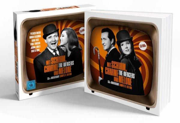 Mit Schirm, Charme und Melone - 50th Anniversary Complete Edition (53 Discs) für o. Vsk für 95,99 € @ Bücher.de