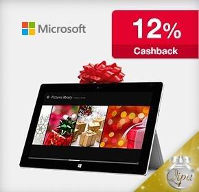 MS Surface Pro 2 / RT -12% durch qipu Cashback