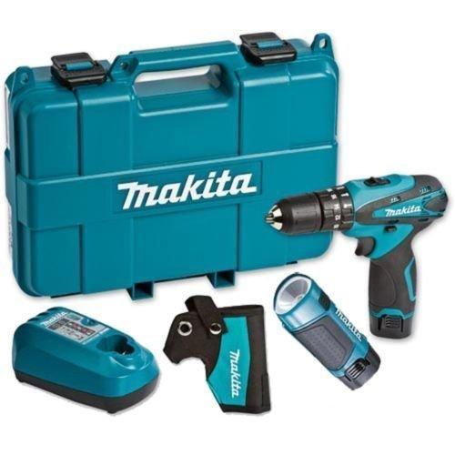 Makita Akku-Schlagbohrschrauber HP330DWLE mit Lampe 110,70€