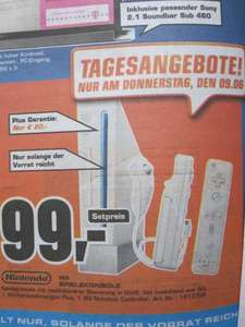 Not another Wii Deal: Saturn (Göttingen lokal?) Wii + Fernbedienung + Nunchuk für 99€