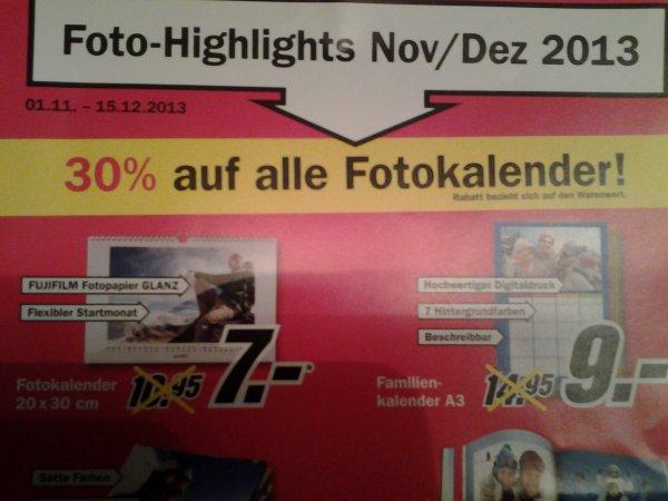Media Markt 30% auf alle fotokalender und weitere Angebote aus dem Bereich Foto