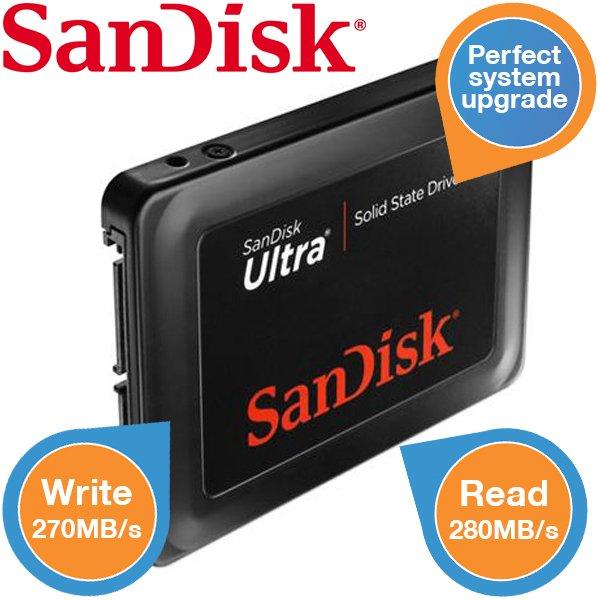 Sandisk Ultra 120 GB SSD für 65,90€ @ IBood (B-Ware)