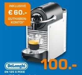 (Saturn Stuttgart) Nespresso Pixie EN 125 Modell verschiedene Farben inkl 60€ Nespresso Club Guthaben