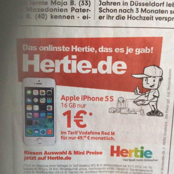 iPhone 5S mit Vodafone Red M