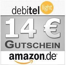 Wieder 14,- € Amazon-Gutschein mit debitel-light