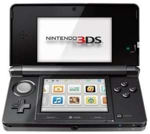 Nintendo 3DS (Cosmo Black) + Displayschutzfolie für 193,29€ @ amazon.co.uk