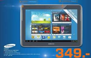 [Saturn Kassel]  Samsung Galaxy Note 10.1 GT-N8000EAADBT WiFi + 3G(25,7 cm (10,1 Zoll) Tablet (Quad-core, 1,4GHz, 16GB interner Speicher, 5 Megapixel Kamera, Android 4.0) deep-gray 349€