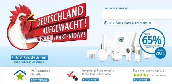 Viele RWE Smart Home Produkte mit bis zu 65% Rabatt, nur am 29.11.13