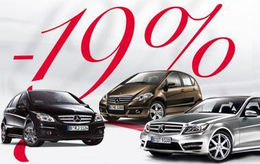 19% MwSt. beim Fahrzeugkauf bei Mercedes sparen.