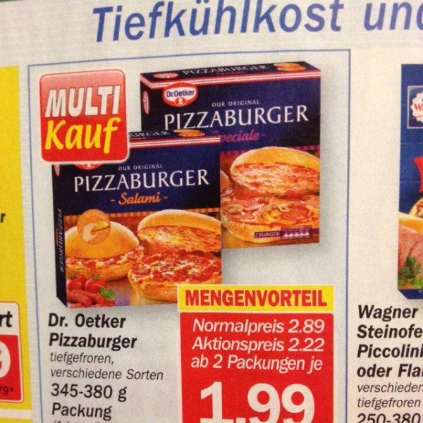 Pizza Burger für -.99€ mit gutschein