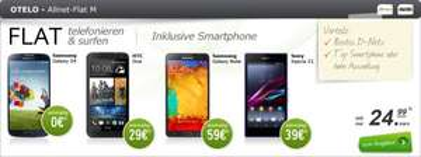 otelo Allnet-Flat M + Samsung Galaxy Note 3