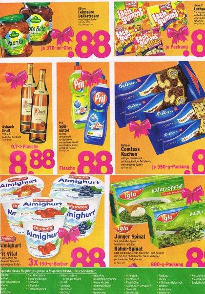 Wasgau Pril Schpülmittel + weitere Angebote