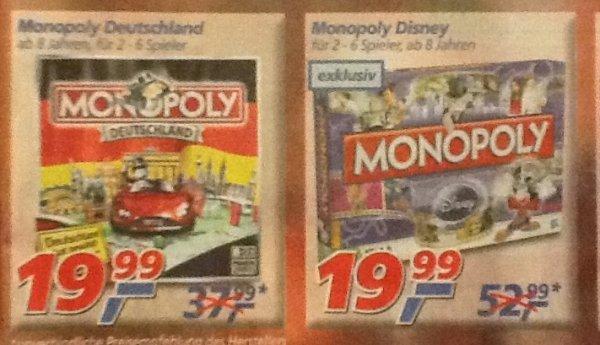 [Real Filiale] - diverse Monopoly Spiele zum Bestpreis