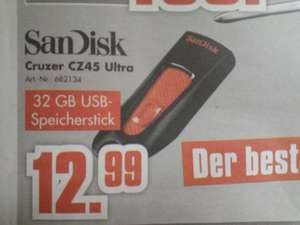 [Lokal] Schossau Mönchengladbach SanDisk 32Gb USB Stick