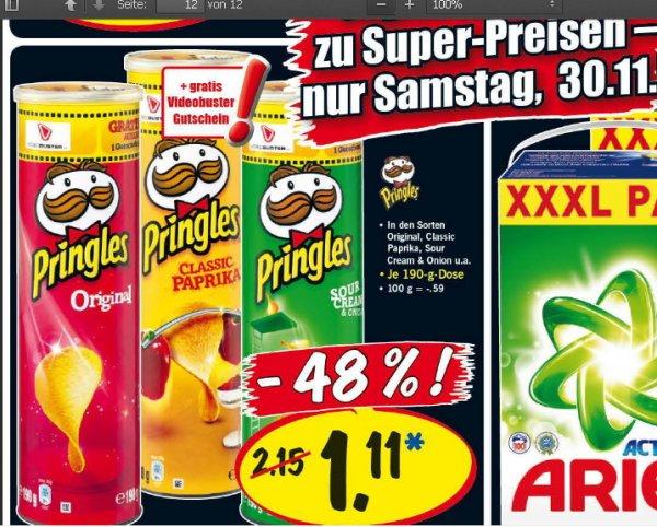 [ LIDL Super Samstag am 30.11 ]    Pringles inkl Videobuster  Gutschein für 1,11 Euro  ---   ARIEL XXXL  100 Waschladungen für 14,99€  ----   Christkindl Glu?hwein 0,99€