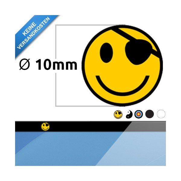 5 Aufkleber und magnetische Webcam Abdeckung Ø10mm