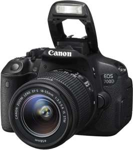 Canon EOS 700D Kit 18-55 mm IS STM + 50€ Cashback für 553,35 € (503,35 € inkl. Cashback) @Amazon.fr