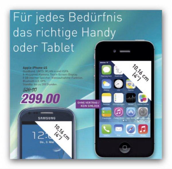 Iphone 4S 8GB bei Marktkauf