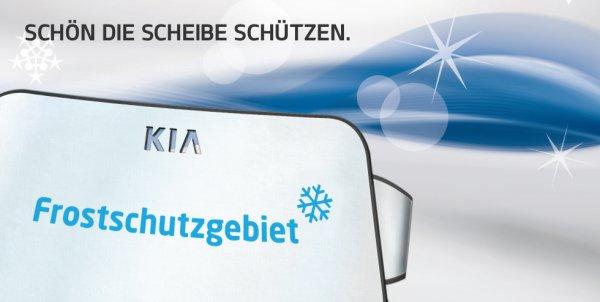 Kostenlose Eisschutzfolie für die Windschutzscheibe von Kia