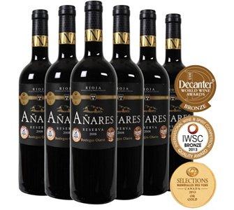 6 Flaschen 2008er Reserva aus dem Rioja